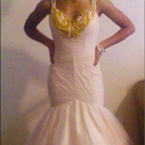 Jovani nude mermaid gown